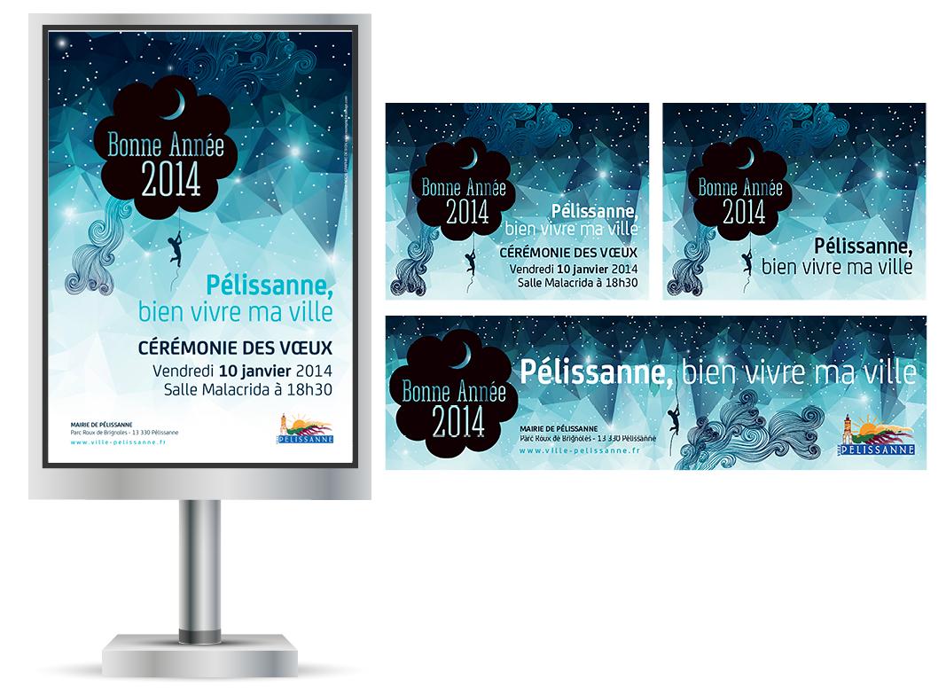 Campagne de Voeux 2014 Pelissanne by Noon Graphic Design