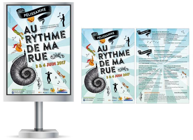Au Rythme De Ma Rue Pélissanne 2017 by NoonGraphicDesign