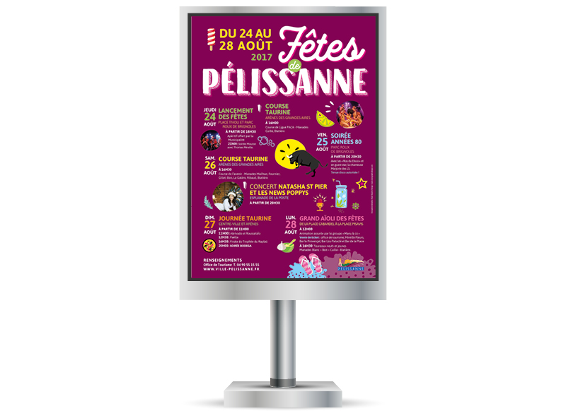 Fêtes de Pelissanne 2017 by NoonGraphicDesign