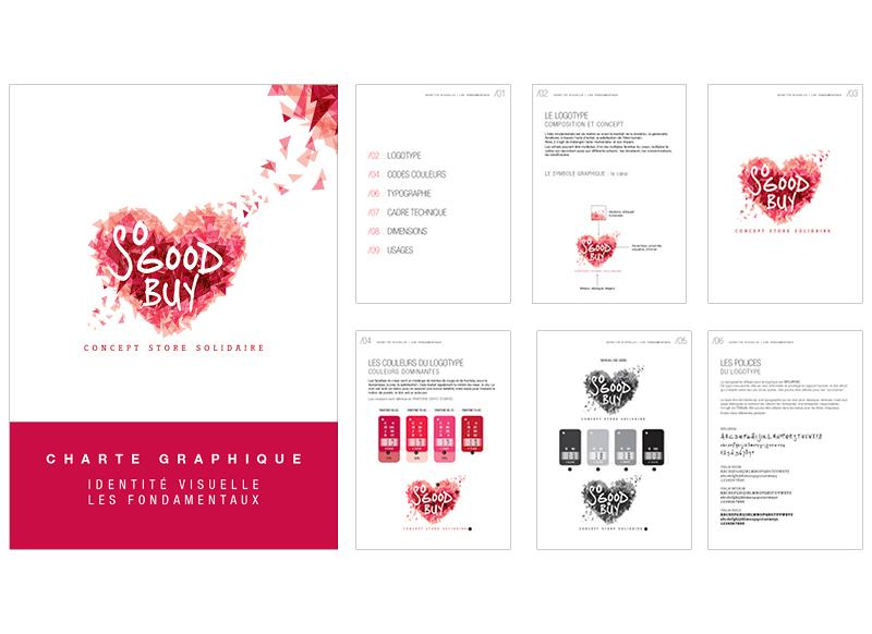 Logo et charte graphique So Good Buy by Noon Graphic Design