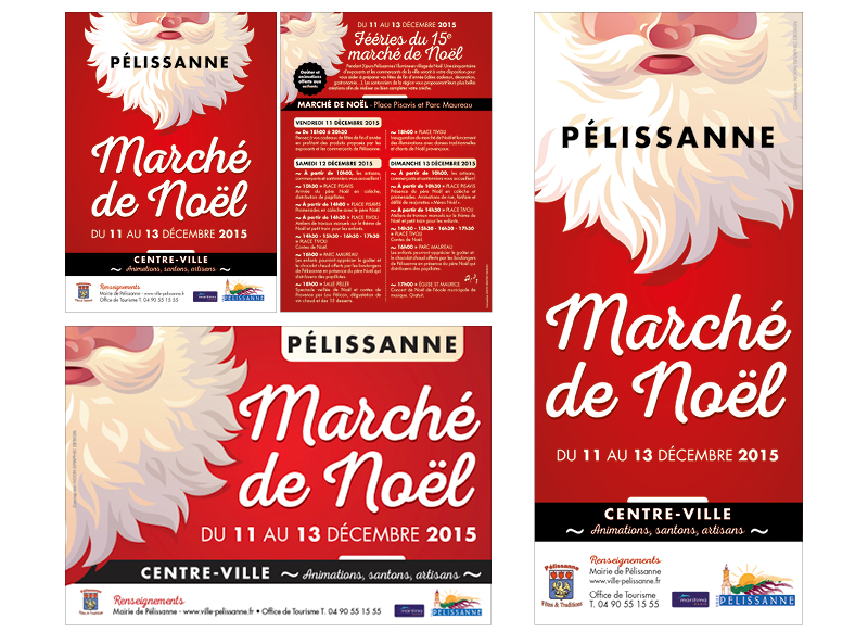 Marché De Noël Pélissanne 2015 by Noon Graphic Design
