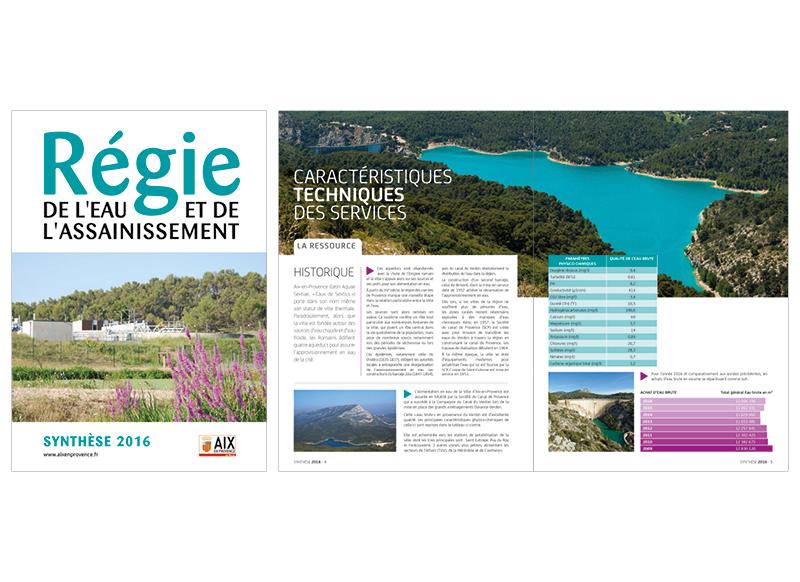 Régie De L'eau Synthèse 2016 by Noon Graphic Design