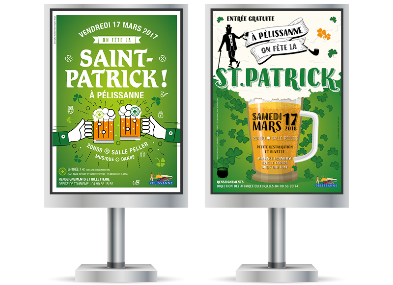 Fête de la Saint Patrick Pélissanne by Noon Graphic Design