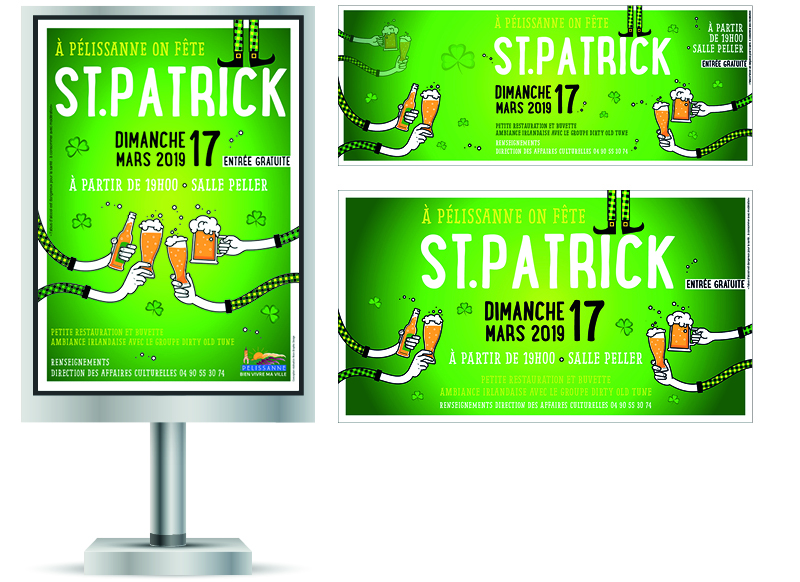StPatrick 2019 Pelissanne by Noon Graphic Design
