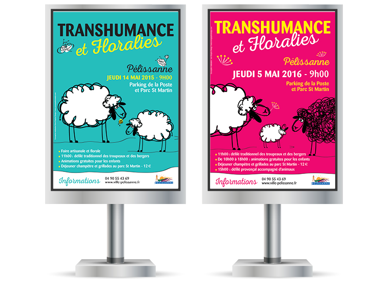 Transhumance et Floralies Pelissanne by Noon Graphic Design
