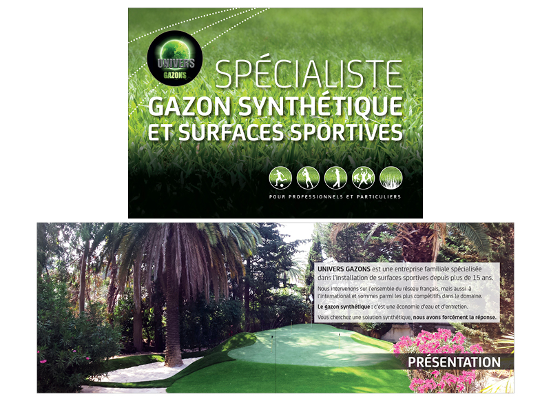 Catalogue Univers Gazon/Golf Green City by Noon Graphic Design