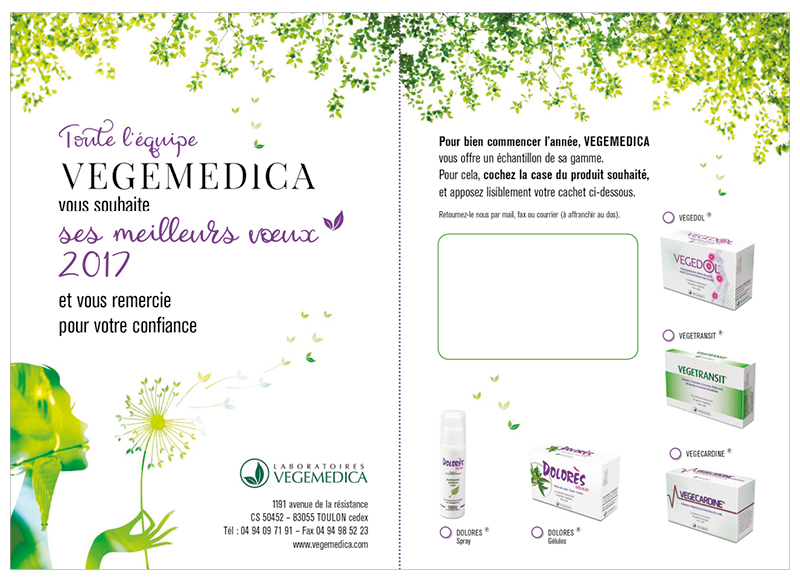 Voeux Vegemedica 2017 by NoonGraphicDesign