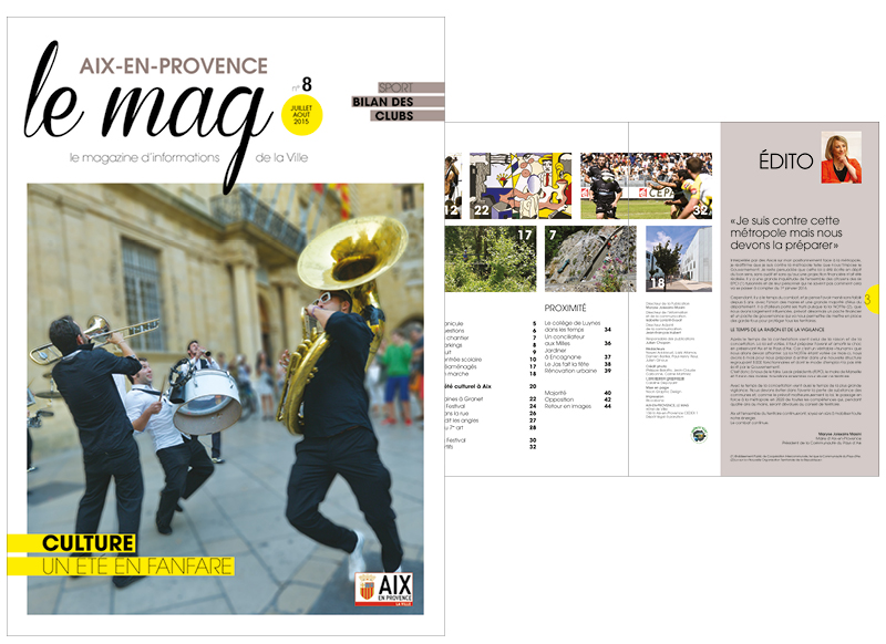 Aix Le Mag by Noon Graphic Design
