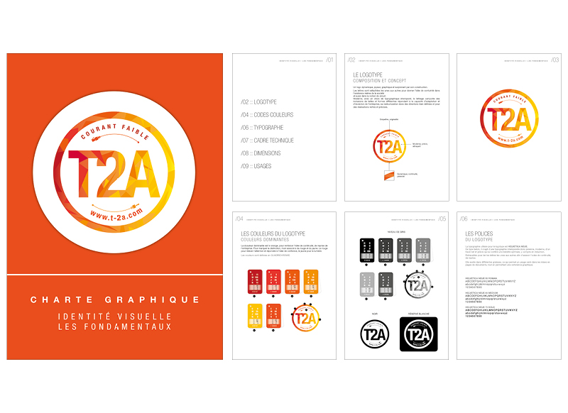 Identite visuelle T2A by NoonGraphicDesign