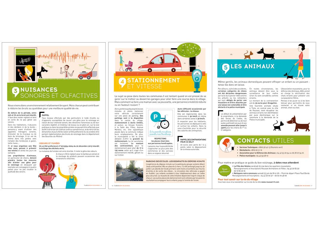 Guide Du Bon Voisinage de Rousset by Noon Graphic Design
