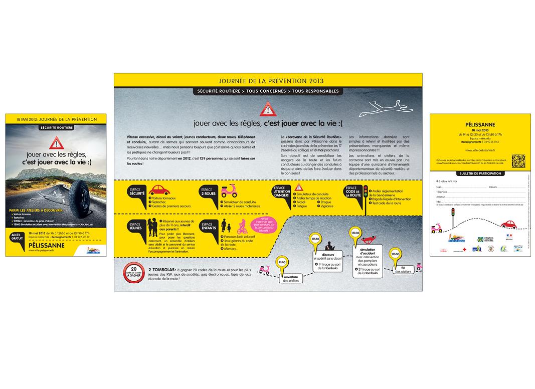 Sécurité routière Journée De La Prévention by Noon Graphic Design