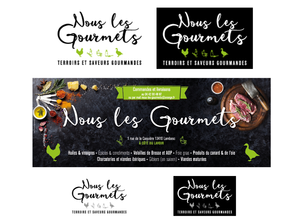Nous Les Gourmets by Noon Graphic Design