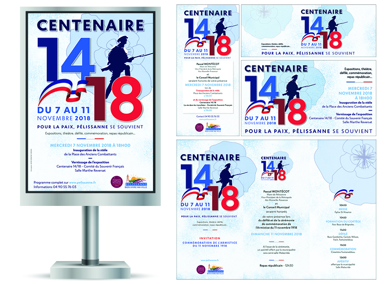 Centenaire 14-18 à Pélissanne by Noon Graphic Design