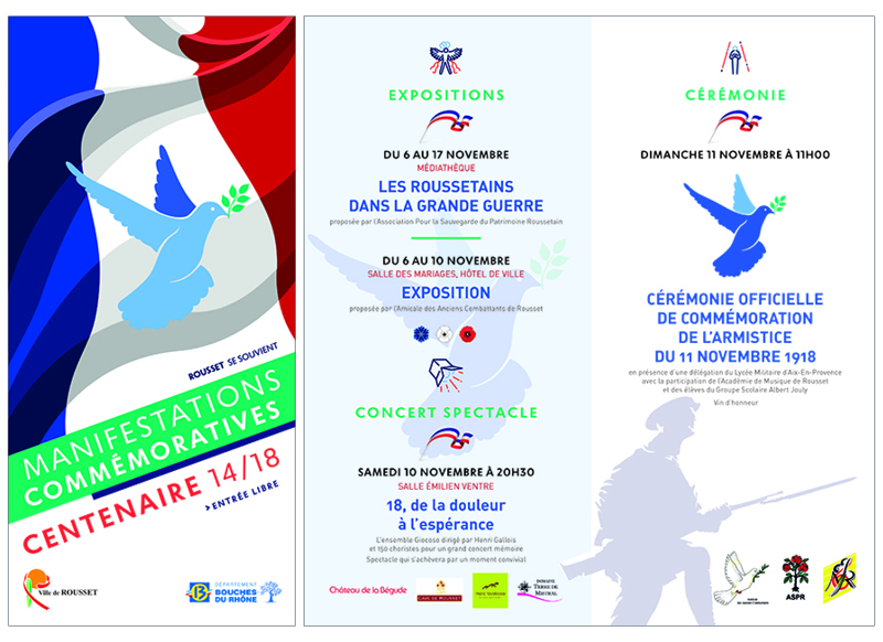 Commémoration Centenaire 14/18 à Rousset by Noon Graphic Design