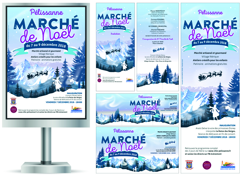 Marché de Noel 2018 à Pélissanne by Noon Graphic Design