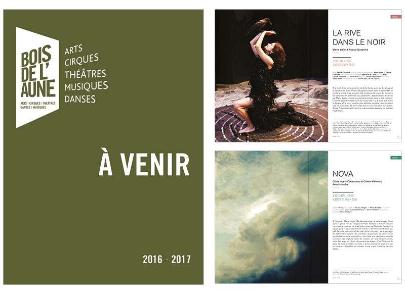 Programme 2016-2017 du Théâtre du Bois de l'Aune à Aix en Provence by Noon Graphic Design