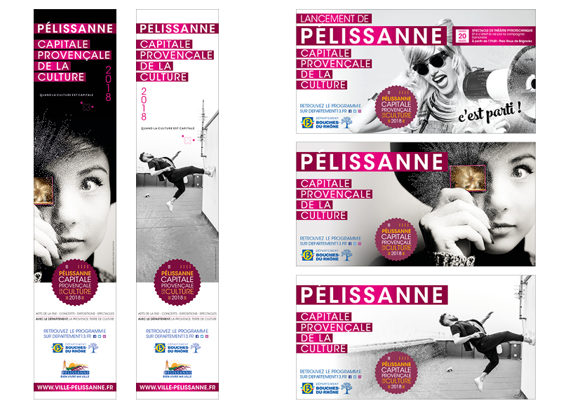 Pélissanne Capitale Provençale de la Culture 2018 by Noon Graphic Design