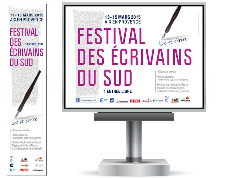 Festival des Ecrivains du Sud 2015 Aix en Provence by Noon Graphic Design