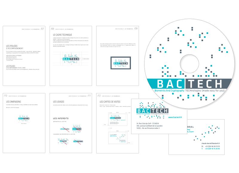 Logo / Identité Visuelle Bactech by NoonGraphicDesign