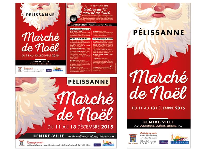 Marché De Noël Pélissanne 2015 by Noon Graphic Design