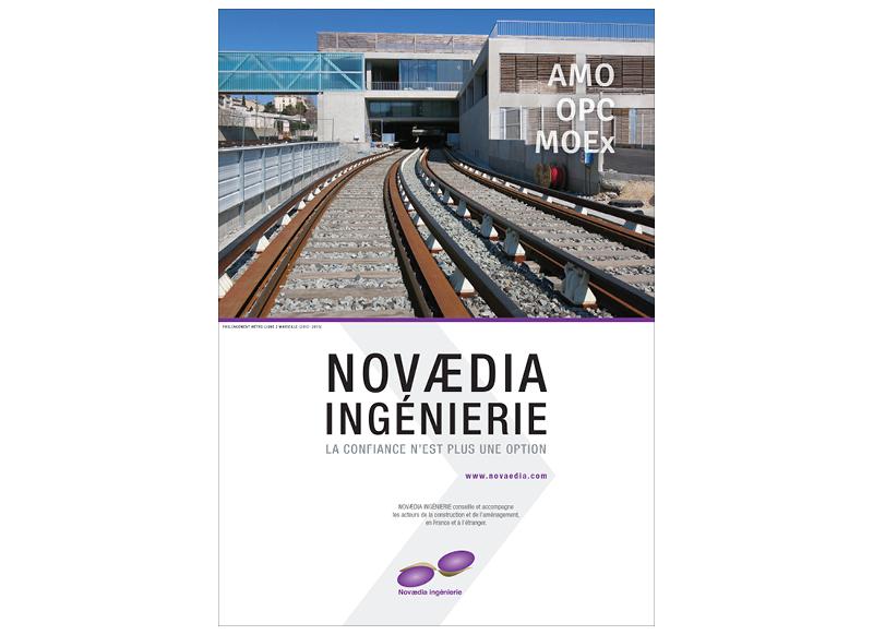 Plaquette Novaedia Ingénierie by Noon Graphic Design