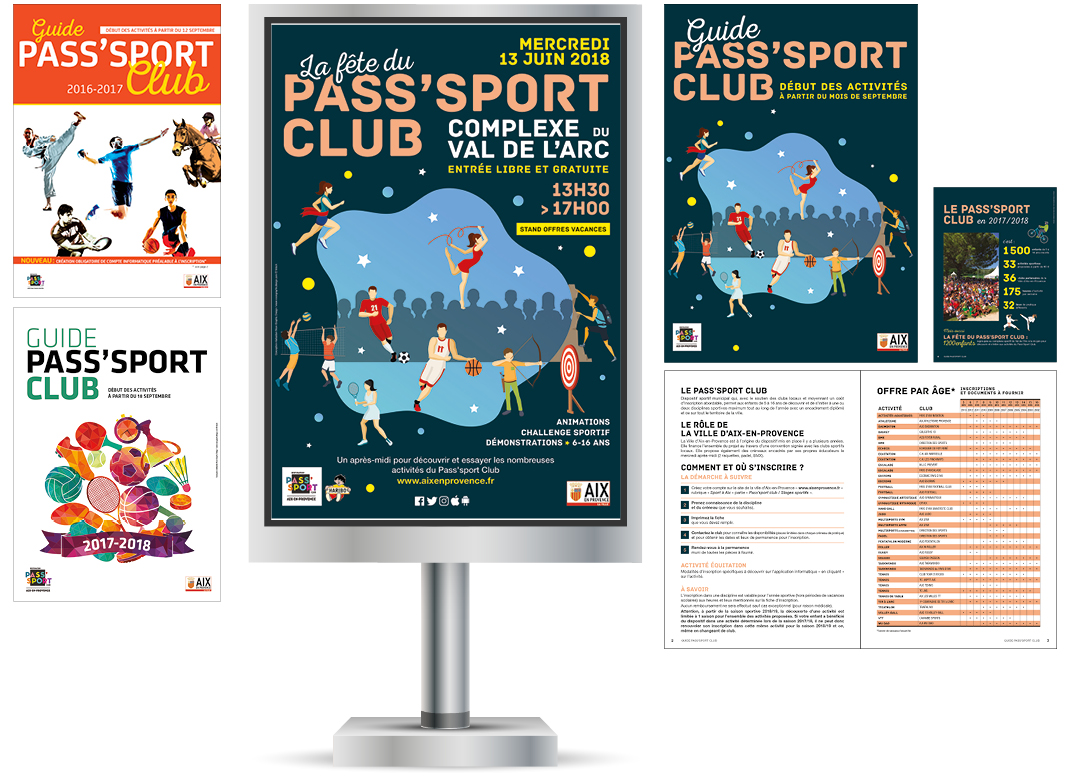 Pass Sport Club By Noon Graphic Design
