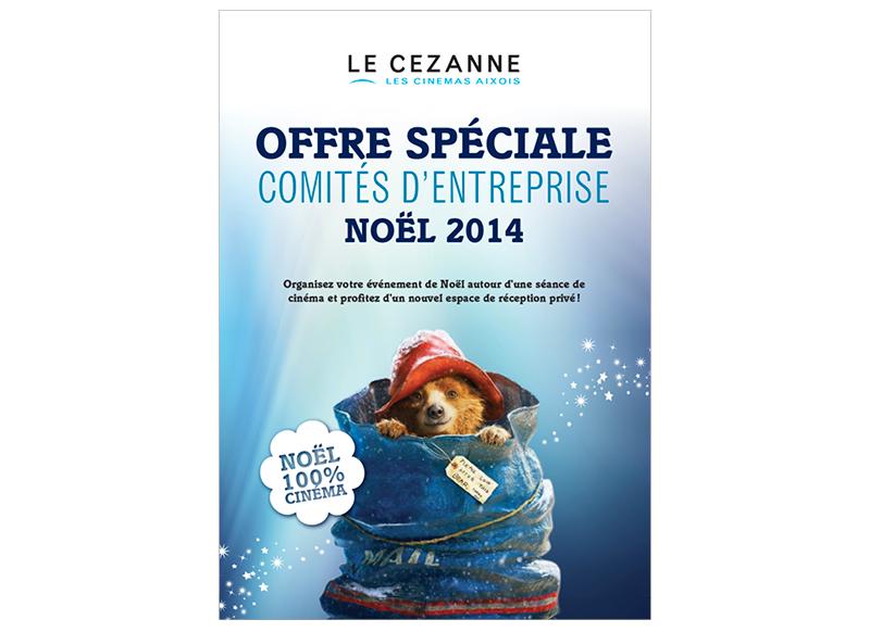 Plaquette Comité d'entreprise Cinéma Le Cézanne by Noon Graphic Design
