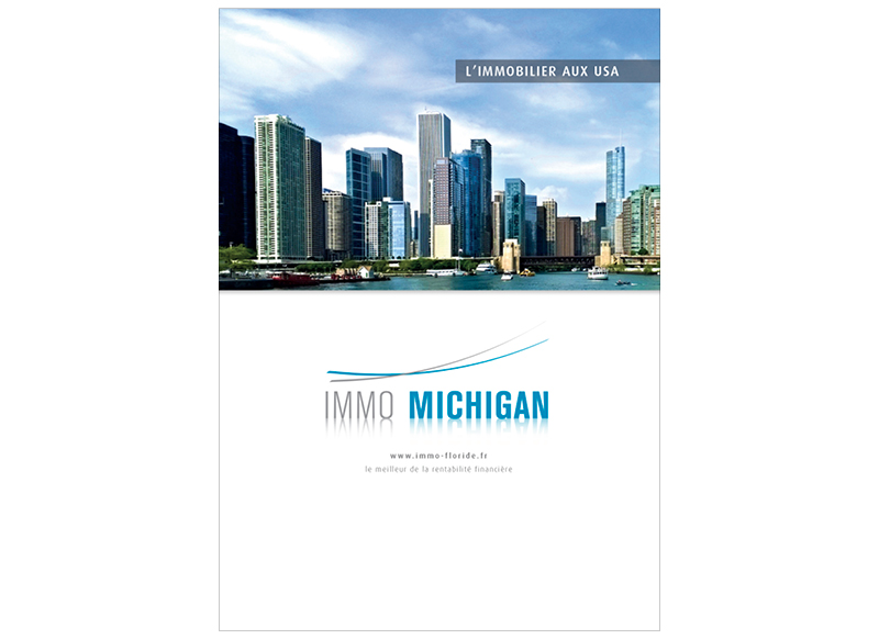 Plaquette Immo Michigan by NoonGraphicDesign