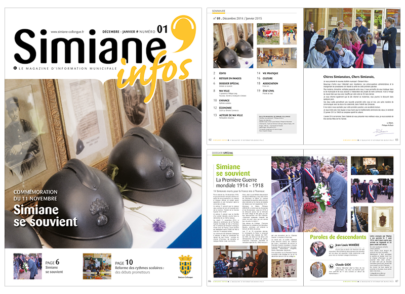 Simiane Infos by Noon Graphic Design