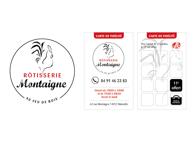 Identite visuelle Rotisserie Montaigne by Noon Graphic Design