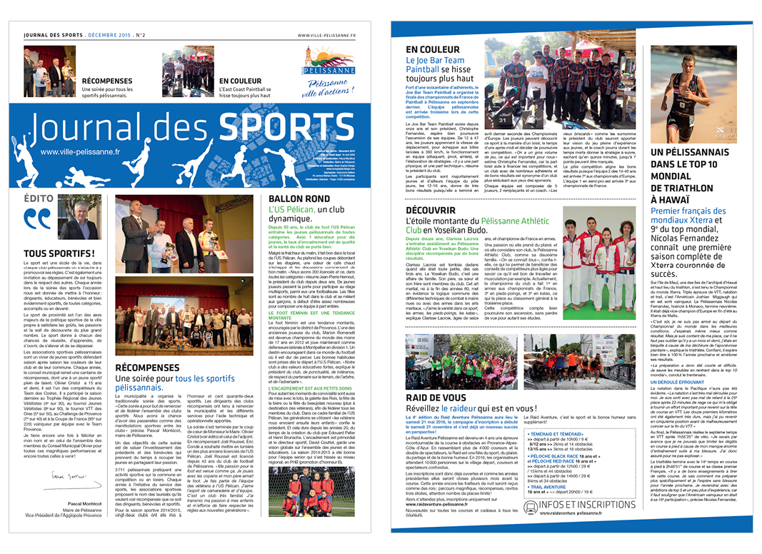Journal Des Sports by Noon Graphic Design