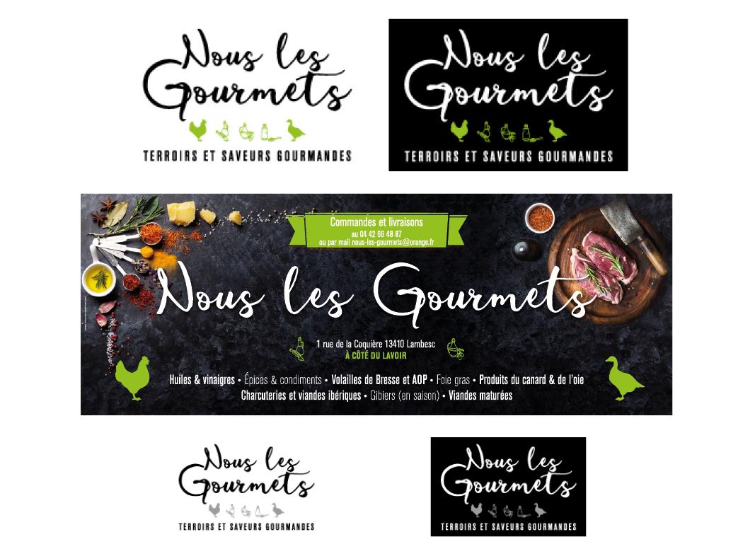 Nous Les Gourmets by Noon Graphic Design