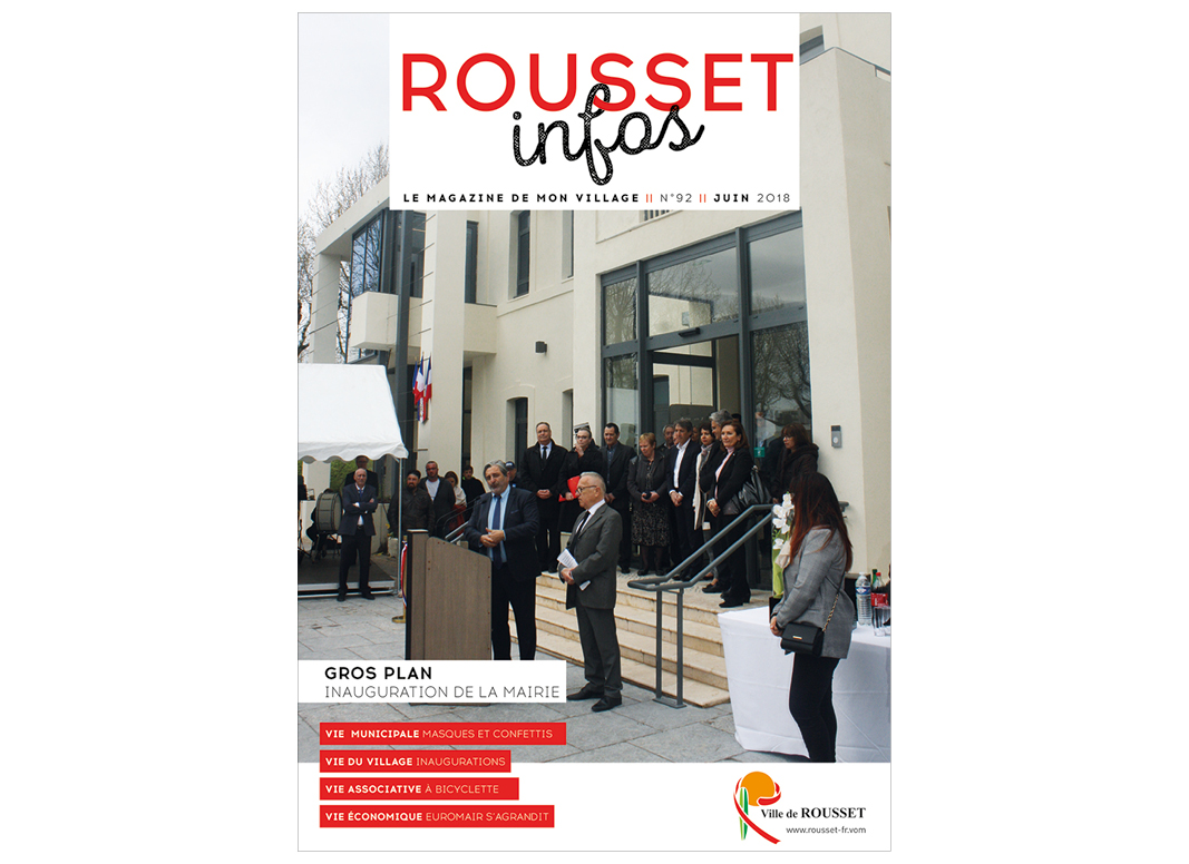Rousset Infos by Noon Graphic Design