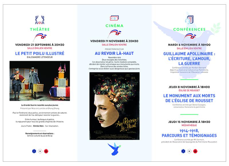 Commémoration Centenaire 14/18 à Rousset by Noon Graphic Design